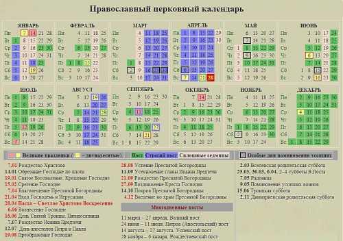 церковный православный календарь на апрель 2017 года